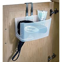 Hide Away Bathroom Organizer Hair Dryer Holder