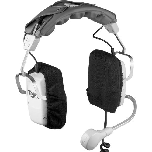 Telex Ph-85 Dual-Sided Headset With 20 Ohm Omnidirectional Carbon Mic, 6' Cord With Pigtail Termination.