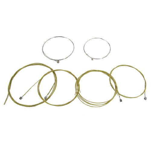 Replacement 6 Pcs A406 Steel Strings Set for Acoustic Guitar (Steel Guitar Strings compare prices)