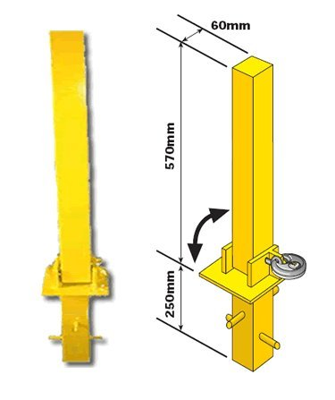 Fold Down (Foldable) Security Post Bollard Parking