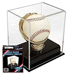 Acrylic Gold Glove Display - Single Baseball