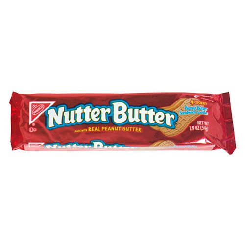 Nutter Butter Peanut Butter Sandwich, 1.9-Ounce Single Serve Bags (Pack of 48)