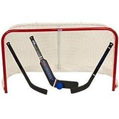Winnwell USA Hockey Pro Style Mini Net Set w Two Sticks, Ball And Goalie Stick.... by Winnwell