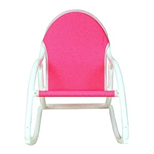 Hoohobbers Rocking Chair Pink Canvas by Hoohobbers