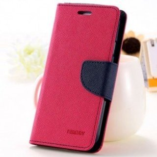 LG NEXUS 4 Flip Cover Mercury Case ( Pink ) By Joy Premium  available at amazon for Rs.249