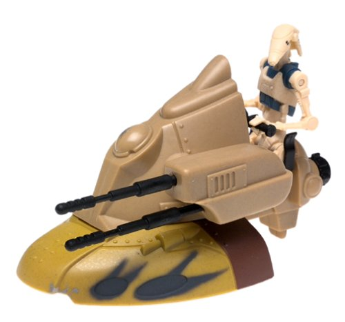 """STAR WARS EPISODE I """" ARMORED SCOUT TANK w/ BATTLE DROID """""""