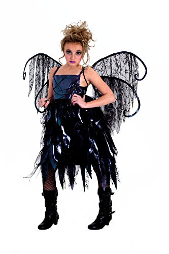 Junior's Tween Gothic Fairy Set Costume- Size Small (6-8)