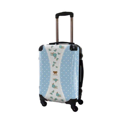 キャラート アートスーツケース プロフィトロール ゆるり1 フレーム4輪 機内持込 (CRA01-009E(浅青))