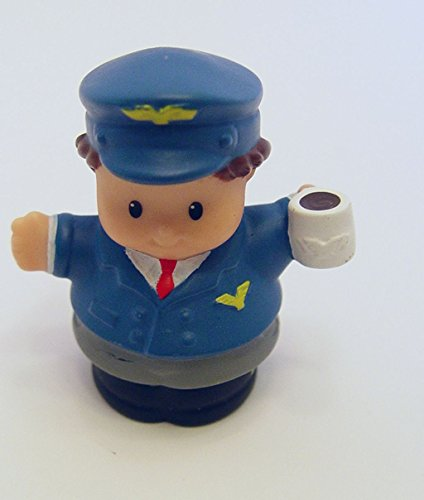 Fisher Price Little People Airforce Pilot with Coffee Loose Out of Package - 1