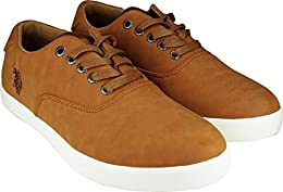 US Polo Assn Sneakers Brown B01MS4ZCEV