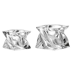 Portacandele da tavolo in vetro leonardo swirl 8 cm - Portacandele da tavolo ...
