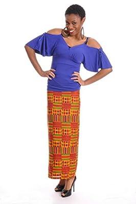 Dupsie's African Print Kente Wrap Skirt