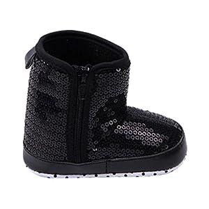 Froomer Bota Alta Fonda Suave Anti Resbalón Lentejuelas Invierno Zapato Infantil Preandador Primeros Pasos