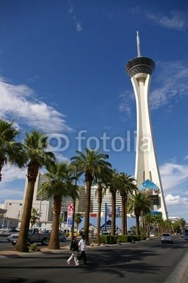 """Wallmonkeys Peel and Stick Wall Decals - Stratosphere Hotel Las Vegas - 24""""H x 16""""W Removable Graphic"""