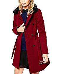 Lurap Women's Maroon Evora Velvet Touch Jacket - Regular & Plus Size