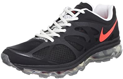 Nike Men's NIKE AIR MAX+ 2012 RUNNING SHOES 7.5 (BLACK/BRGHT CRIMSON/MTLLC SLVR)
