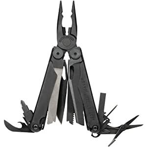 Leatherman Wave Black Oxide Finish Multi Tool with Nylon MOLLE Sheath , 830246 by Leatherman