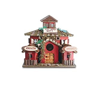 Gifts & Decor Finch Valley Winery Wine Bird House/Feeder