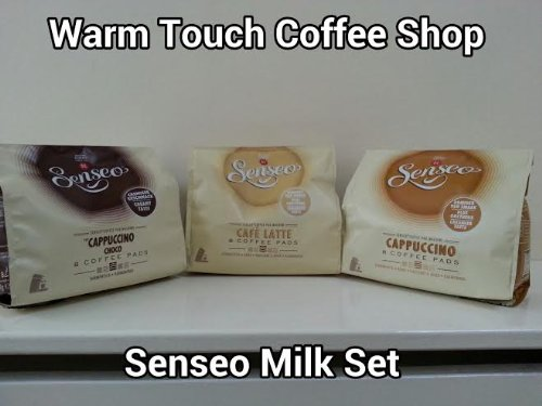 Get Senseo Milk-Set: Café Latte, Cappuccino, Choco Cappuccino, 3 x 8 Coffee Pods by DOUWE EGBERTS