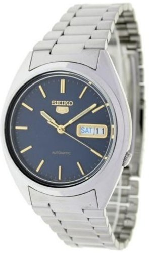 Seiko Men's 5 Automatic SNXG51K Silver Stainless-Steel Automatic Watch with Grey Dial