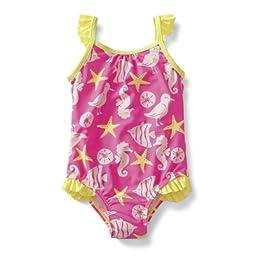 Carter\'s Girls 1-piece Swimsuit (24 Months, Neon Pink)