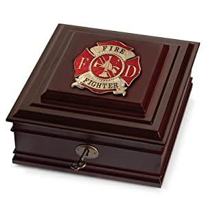 Com Personalized Fire Fighter Medallion Desktop Box Office Products
