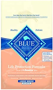 Blue Buffalo Large Breed Puppy Dry Food, Chicken and Rice Recipe, 30-Pound Bag
