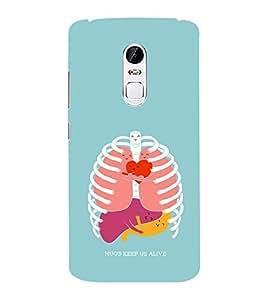 EPICCASE hugs keeps us alive Mobile Back Case Cover For Lenovo Vibe X3 (Designer Case)