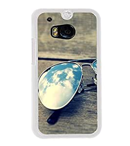 Sunglasses on a Bench 2D Hard Polycarbonate Designer Back Case Cover for HTC One M8 :: HTC M8 :: HTC One M8 Eye :: HTC One M8 Dual Sim :: HTC One M8s