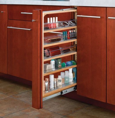 Rev-A-Shelf RS432.VF26.6 6 in. W x 26 in. H Vanity Filler Pullout
