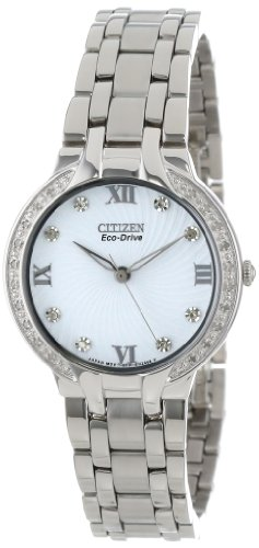 "Citizen Women'S Em0120-58A ""Bella"" Stainless Steel And Diamond Eco-Drive Watch"
