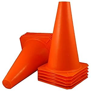 Buy 10 New 9 Tall Orange Cones ~ Soccer Football Lacrosse Tennis Traffic Safety Sports... by Bluedot Trading