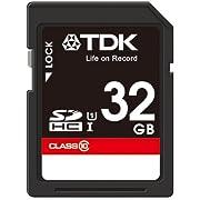 【Amazon.co.jp限定】TDK SDHCカード 32GB Class10 UHS-1対応(最大転送速度30MB/秒) 5年保証 SDHC10UV-32G-FFP