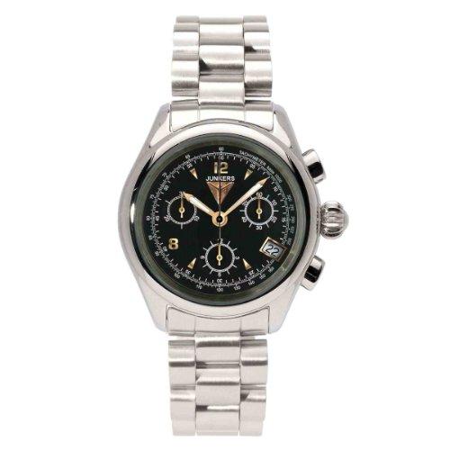 Junkers 6289M2 - Reloj cronógrafo de cuarzo para mujer con correa de acero inoxidable, color plateado