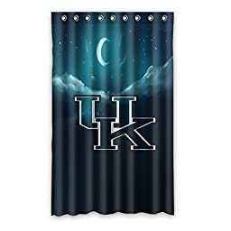 Custom Kentucky Wildcats Blackout Curtain Polyester For Bedroom 52\