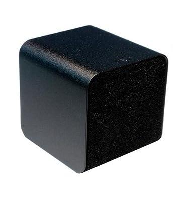 Nuforce CUBE-SPEAKER-BLACK Portable Speaker with Headphone Amplifier and Audiophile-Grade USB DAC (Black)