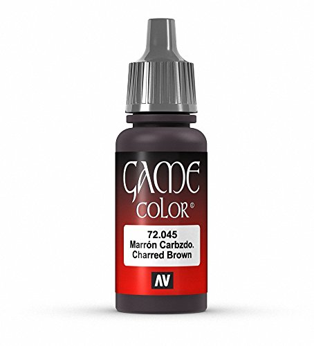 Vallejo Game Color Charred Brown Paint, 17ml - 1