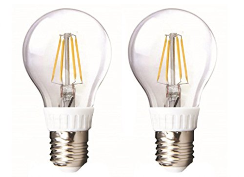 How Nice Led Bulb Light A19 4W 360Lm Led Clear Filament Bulb To Replace 40W Incandescent Bulb Soft White (3500K) Led Candle Light -Pack Of 2
