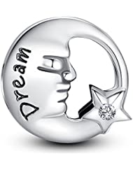 Glamulet Dream Moon Star Charm 925 Sterling Silver Fits Pandora Bracelet