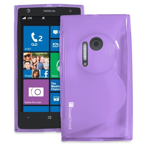 #1  GreatShield Slim Fit Guardian S Series Protective TPU Skin Case for Nokia Lumia 1020 / Nokia EOS (Purple)