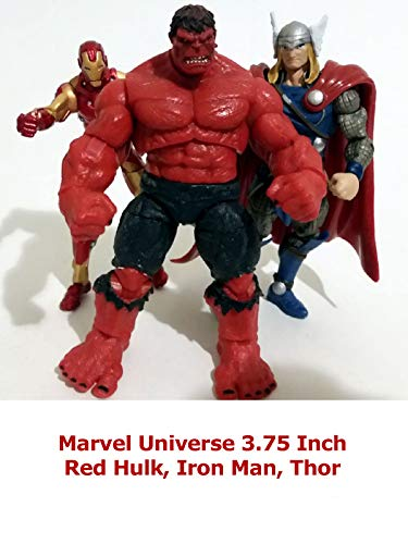 Clip: Marvel Universe 3.75 Inch Red Hulk, Iron Man, Thor
