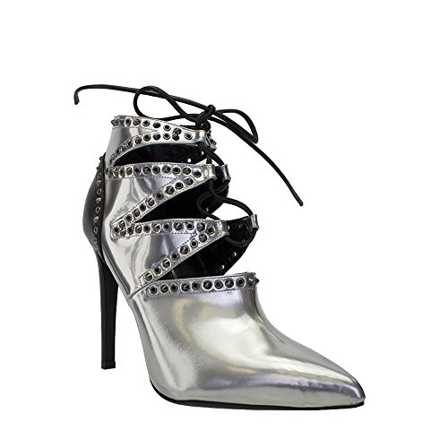 sergio-rossi-silver-black-leather-lace-up-ankle-boot