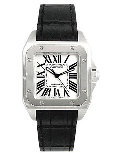 [カルティエ] CARTIER 腕時計 サントス100 MM W20106X8 SS/ブラックレザー ボーイズ 新品 [並行輸入品]