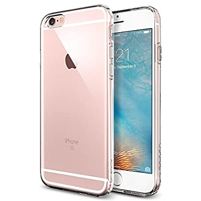 iPhone 6s Case, Spigen® iphone 6 case cover [Liquid Air] [Crystal Clear] Premium Clear Flexible Soft TPU / SOFT-FLEX Extra Grip Case iPhone 6/6s Cover for iPhone 6 (2014) / 6s (2015) - Crystal Clear (SGP11753)