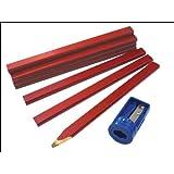 Faithfull CPR12S Tube de crayons de charpentier avec taille-crayon