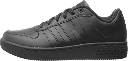 Adidas NEO Men's Team Court Fashion Sneaker, Black/Black/Black, 11 M US