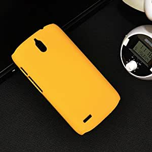 Newtronics Yellow Rubberized Matte Finish Hard Back Cover Case For Huawei Ascend G610