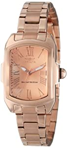 Invicta Womens 15158 Lupah Rose Gold Dial 18k Ion-Plated Stainless Steel Watch