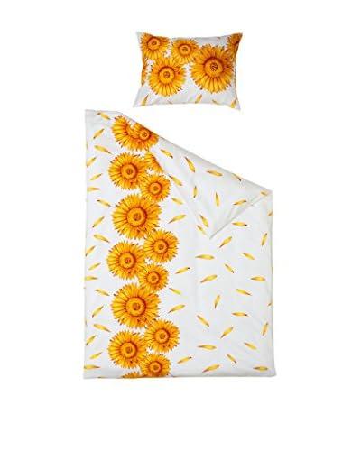 Hefel Conjunto de Cama Sunflower Blanco/Amarillo
