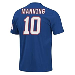 NFL Mens York Giants Eli Manning The Eligible Receiver Deep Royal Short Sleeve Basic Crew Neck Tee from NFL